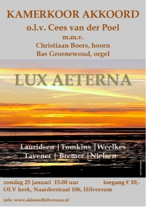 Affiche Lux Aeterna groot